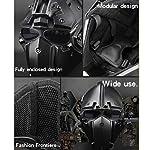 GODNECE Masque Combat Masque Tir Casque Tactique Militaire Casque Intégral Airsoft pour Airsoft Paintball Wargame CS 10