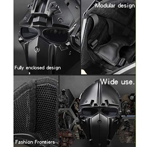 GODNECE Masque Combat Masque Tir Casque Tactique Militaire Casque Intégral Airsoft pour Airsoft Paintball Wargame CS 5