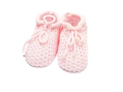 8c34fcce Patucos punto para bebé recién nacido, tamaño de 0 a 3 meses, color rosa