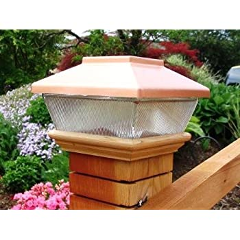 solar post cap lights australia copper top led light caps bridges fences decks posts amazon menards