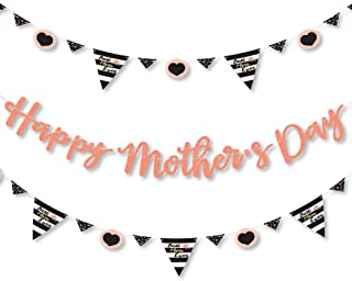 product image for Big Dot of Happiness Best Mom Ever - Mother's Day Letter Banner Decoration - 36 Banner Cutouts and Happy Mother's Day Banner Letters