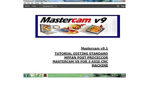 Amazon com: editing mastercam v9,1 mpfan standard post
