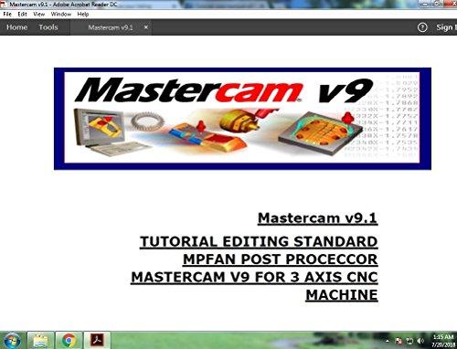 editing mastercam v9,1 mpfan standard post processor eBook