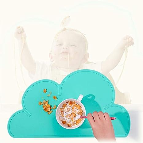 Place Mat Cojín de Silicona para niños/Vajilla en la Nube ...