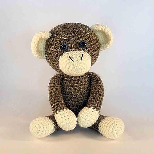 Amazon Com Crochet Amigurumi Monkey Brown Monkey Plush Monkey