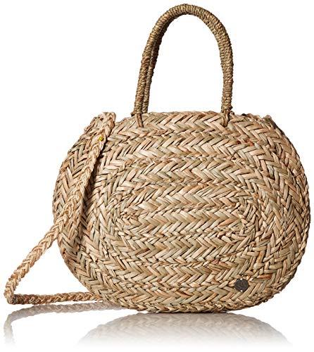 - Billabong Women's Had Me At Aloha Straw Tote Bag Canyon Khaki One Size