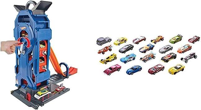 Hot Wheels- Supergaraje, Garaje para Coches de Juguete, Multicolor (Mattel GWT34) + Wheels Pack de 20 vehiculos, Coches de Juguete (Modelos Surtidos) (Mattel H7045): Amazon.es: Juguetes y juegos