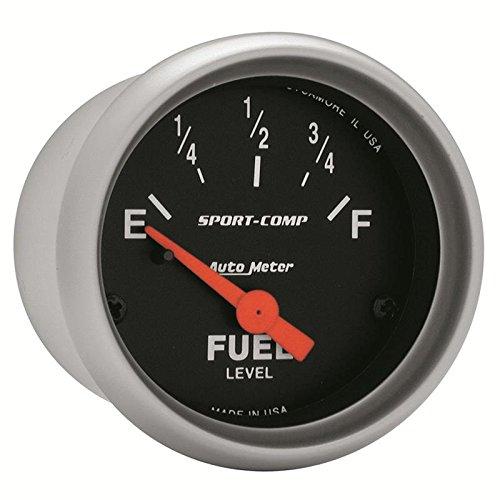 Auto Meter Sport Comp 52Mm Short Sweep Electronic Fuel Level Gauge By Jm Auto Racing (3314)