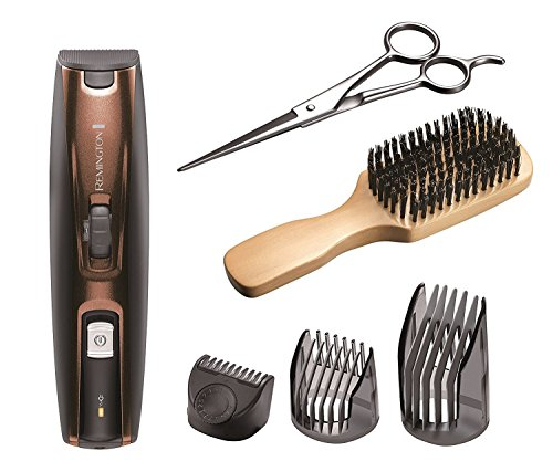Remington MB4045 Beard Kit (Beard Trimmer, Mixed Boar Bristle Beard Comb...