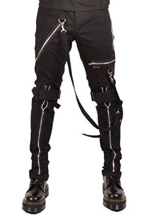 Tripp Men's Bondage Punk Rocker Emo Goth Tight Skinny Jeans at ...