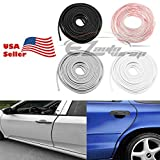15 Ft Soft Gray Rubber Flexible Door 3M Tape Edge Guard Scratch Paint Protection Molding Trim (No More Messy Liquid Glue)