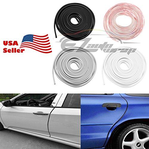 15 Ft Soft Gray Rubber Flexible Door 3M Tape Edge Guard Scratch Paint Protection Molding Trim (No More Messy Liquid Glue) by EZAUTOWRAP
