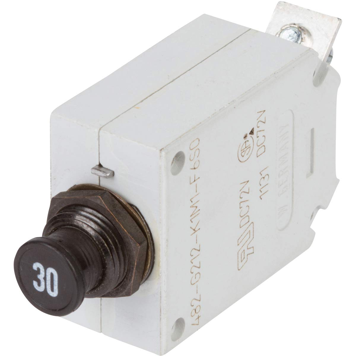 E-T-A Circuit Protection and Control 482-G212-K1M1-A1S0-30A , Circuit Breaker; Therm; Push/Pull; Cur-Rtg30A; Panel; 1 Pole; Vol-Rtg 115/28VAC/VDC