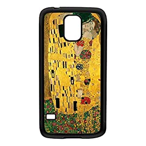 The Kiss by Gustav Klimt Black Silicon Rubber Case for Galaxy S5 by Painting Masterpieces + FREE Crystal Clear Screen Protector