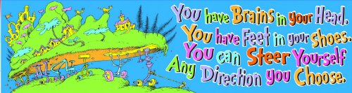 Eureka Dr. Seuss 'Oh the Places You'll Go' Colorful Back to School Motivational Banner Classroom Decoration, 12'' x 45 '']()