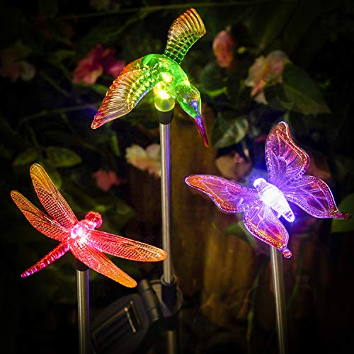 Outdoor Solar Lights Dragonfly in US - 8