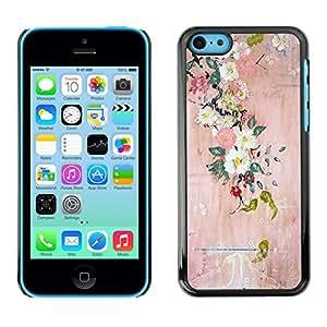 For Apple iPhone 5C Case , Blossoming Tree Art Painting - Diseño Patrón Teléfono Caso Cubierta Case Bumper Duro Protección Case Cover Funda