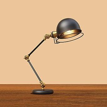 Retro lámpara de escritorio, Giratorio lámpara de mesa libro ...
