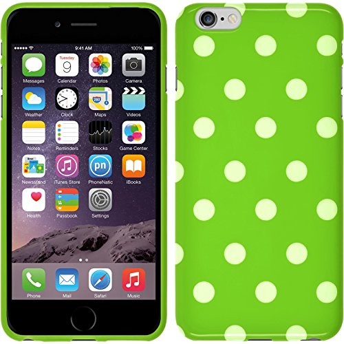 PhoneNatic Silicone Case Compatible with Apple iPhone 6 Plus / 6s Plus - Polkadot Design:05 Cover + Protective foils (Iphone 5 Polka Dot Case)