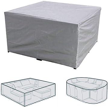 ZSHXF Cubierta de Polvo Funda para Muebles de Jardín,Copertura Impermeable para Mesas Rectangular,Cubierta de Exterior Funda Protectora Muebles Mesas Sillas Sofás Exterior: Amazon.es: Deportes y aire libre