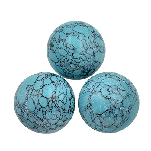 AD Beads Natural Gemstone Harmony Round Ball Crystal Healing Sphere Massage Rock 20~50mm (29 Blue Turquoise, 50mm)