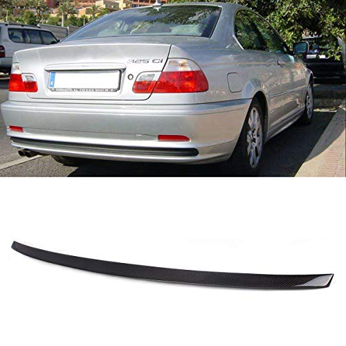 (Fandixin E46 Spoiler, Carbon Fiber Rear Trunk Deck Lip Boot Spoiler Wing for BMW 3 Series E46 2-Door )