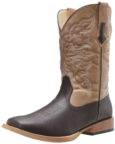 (Roper Men's Square Toe Cowboy Boot, Brown, 10.5)