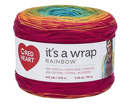 RED HEART Wrap Rainbow, Fiesta Yarn