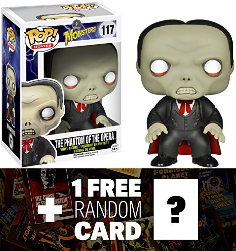 Phantom of the Opera: Funko POP! x Universal Monsters Vinyl Figure + 1 FREE Classic Sci-fi & Horror Movies Trading Card Bundle [42127]