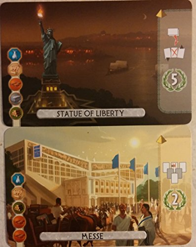 7 Wonders Duel: Statue Of Liberty and Messe Essen Promotional Bundle