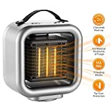 COMLIFE PTC Oscillating Ceramic Heater, Portable Electric Fan Heater, Personal Space Heater