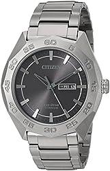 Citizen Men's Eco-Drive Super Titanium Silvertone Watch
