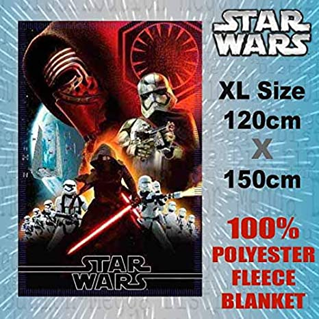 Herding Star Wars Couverture Polaire 130 x 160 cm Polyester Multicolore