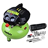 PowRyte Elite 6 Gallon Oil-Free Pancake Portable Air Compressor with 20 Piece Compressor Starter Kit