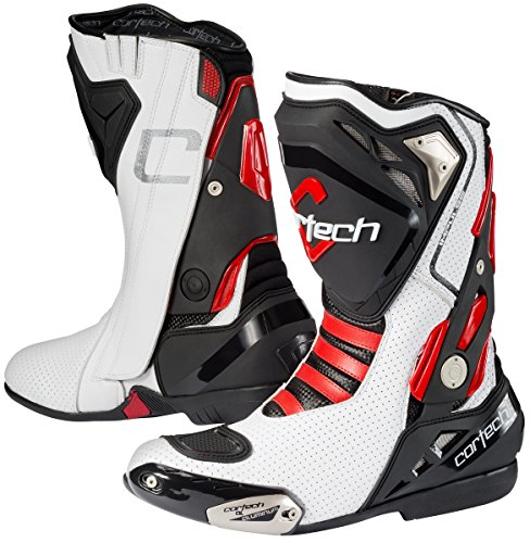 Aluminum Road Boot (Cortech Men's Impulse Air Road Race Boot(White/Red, Size 11), 1 Pack)