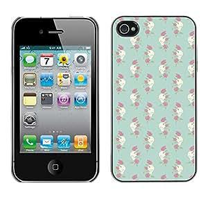 ZECASE Funda Carcasa Tapa Case Cover Para Apple iPhone 4 / 4S No.0002437