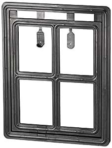 """ADFORS Premium Pet Screen Door, 12 """" x 16"""", Black"""