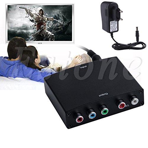 HDMI to RGB Component (YPbPr) Video+R/L Audio Adapter Converter HD TV OE EU Plug