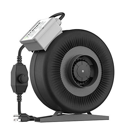 VIVOSUN 4 Inch 203 CFM Inline Duct Ventilation Fan with Variable Speed -