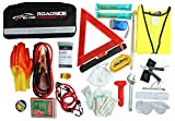car door unlock kit - WELL-STRONG Roadside 66 Pcs Multipurpose Emergency Car First Aid Kit Auto Assistance Contains Jumper Cables, Tow Rope, Bandage, Safety Vest, etc, All Ultimate Supplies in One Pack