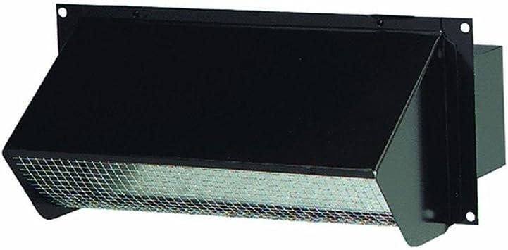 Round Duct Black Durable Steel Broan Wall Cap Exhaust Fan Range Hood 6 in