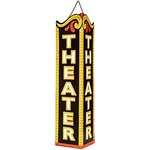 Theater Triangle Embossed Tin Sign
