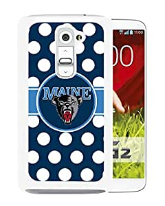 NCAA Maine Black Bears 8 White Hard Shell Phone Case For LG G2