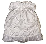 Hand Embroidered Christening Baptism Dress (christening outfit for girls) Model G006 (24-36 Months, White)