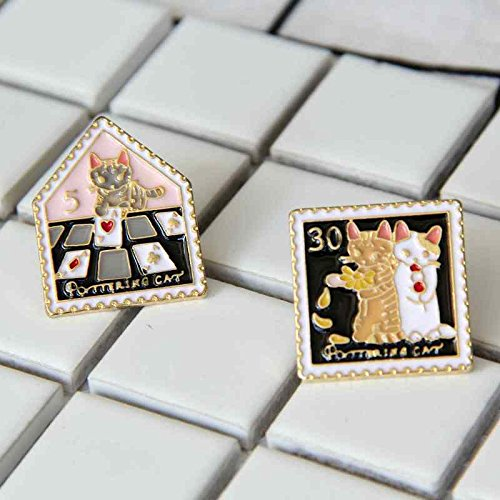 Price comparison product image Su-shirt Square stamp brooch Ja and South Korea