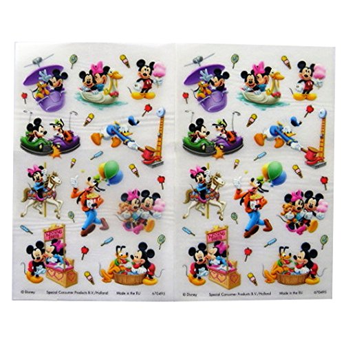 Mickey and Friends - Colourful Creative Rub on Transfer Stickers - 2 Sheets