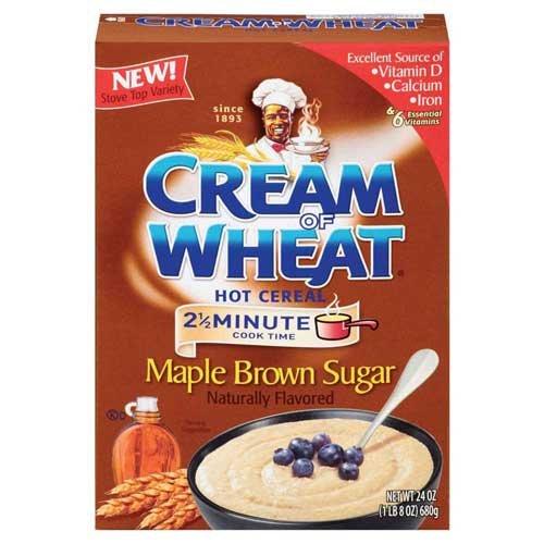 Cream of Wheat Maple Brown Sugar Hot Cereal, 24 Ounce - 12 per case.