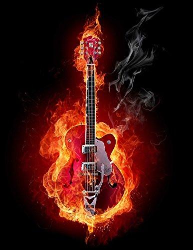 T-Shirt Gittare Heavy Metal Rock`nRoll Rock Musik Gitarrist -468
