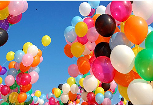 300 Assorted Color Party Balloons 12 Inch Premium Quality Helium For Parties Wedding