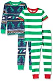 Amazon Brand - Spotted Zebra 4-Piece Snug-Fit Cotton Pajama Set